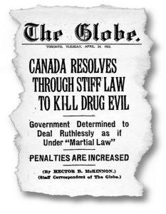 Portada del periódico The Globe en 1923.