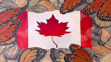 Image: A very Canadian Image. Oil on canvas