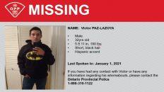 Mexicano desaparecido en Ontario
