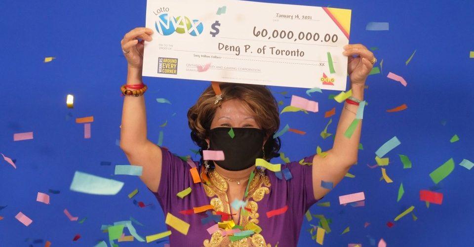 Mujer gana lotería en Toronto