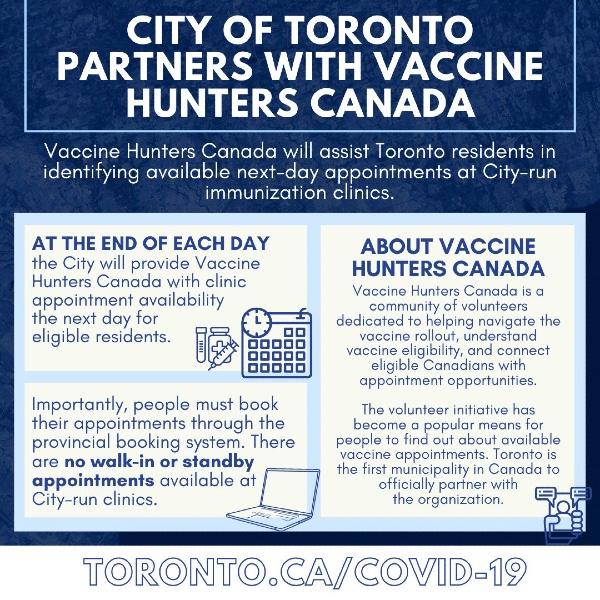 Vacunas disponibles en Toronto