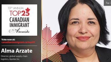 Alma Arzate Top 25 Canadian Immigrant Awards